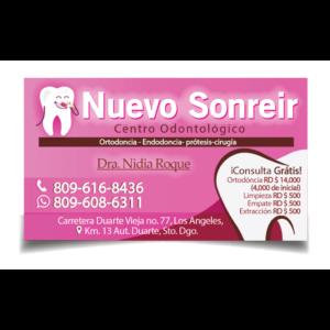 tarjeta de presentación para centro odotológico