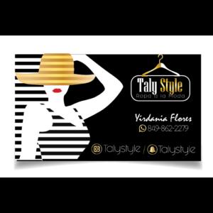 tarjeta de presentación taly Style