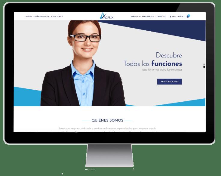 sitio web Acrux