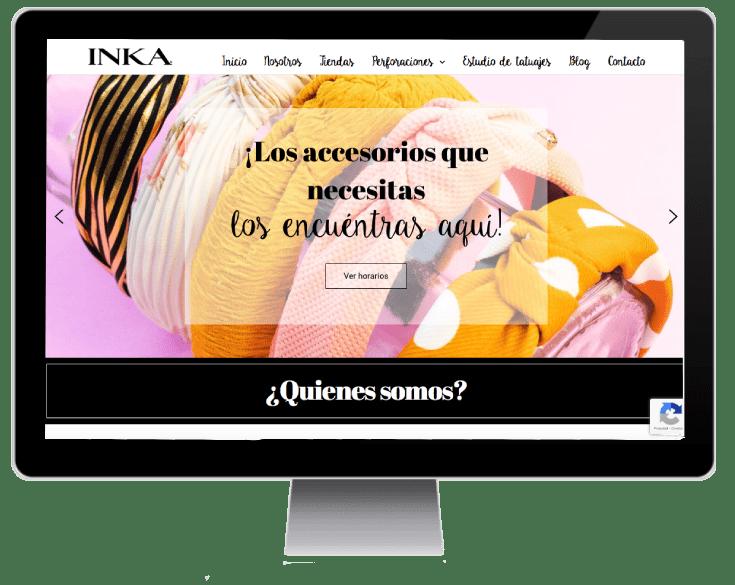 sitio web Inka Accesorios