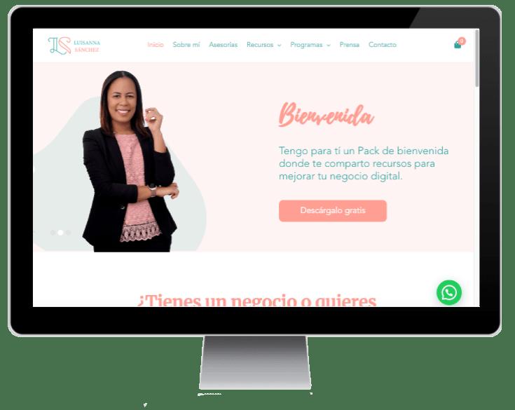 sitio web Luisanna Sánchez