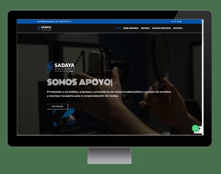 sitio web Sadaya Music